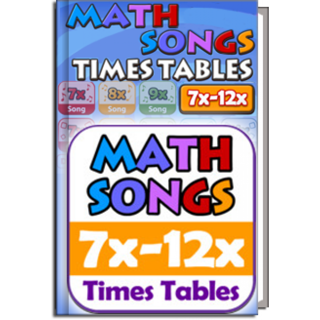Pin math songs times tables 7x 12x 10 app for ipad iphone for 12x table song
